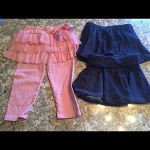 Other - Girls skirted leggings and 2 denim look skirts